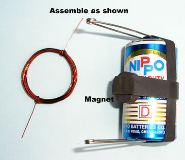 13 Embly Of A Motor If Battery Cell Has Metal Case The Rubber Band For Keeping Magnet In Place Will Not Be Necessary